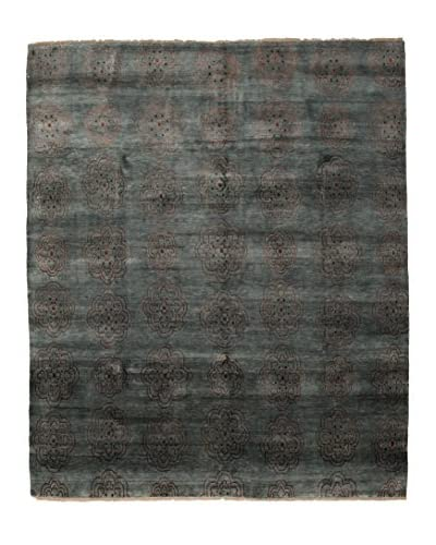 Darya Rugs Traditional Oriental Rug, Dark Green, 8' 1 x 9' 7