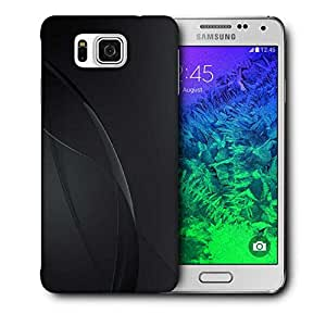 Snoogg Dark Black Color Design Printed Protective Phone Back Case Cover For Samsung Galaxy SAMSUNG GALAXY ALPHA