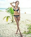 ange select シック デザイン 白 黒 バイカラー ビキニ 水着 ビーチ 海 リゾート 旅行 しっかり ホールド バスト アップ