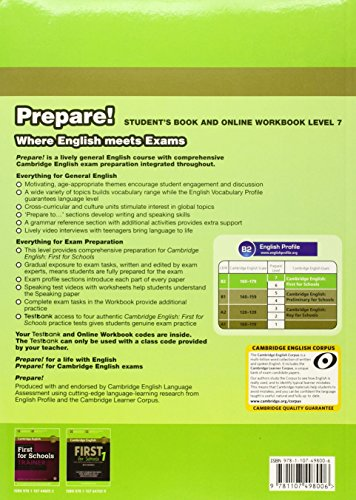 Cambridge English Prepare! Level 7 Student's Book and Online Workbook with Testbank