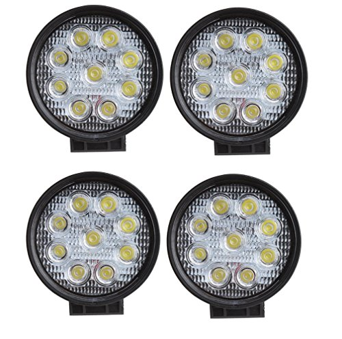 4pcs Round 9pcs 27w Waterproof Spot Beam LED