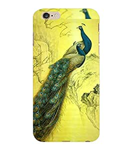 ColourCraft Beautiful Peacocks Design Back Case Cover for APPLE IPHONE 6S PLUS