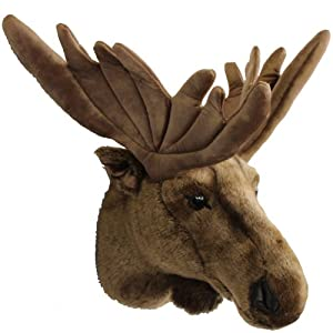 stuffed animal moose head wall mount trophy 45 x 60 x 37 cm kitchen home. Black Bedroom Furniture Sets. Home Design Ideas