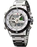 New Shark Mens Digital Analog Lcd Display Chronograph Army Sport Wrist Watch