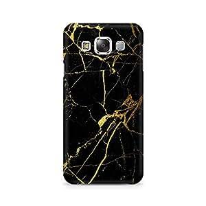 Ebby Lightning Golden Premium Printed Case For Samsung E5