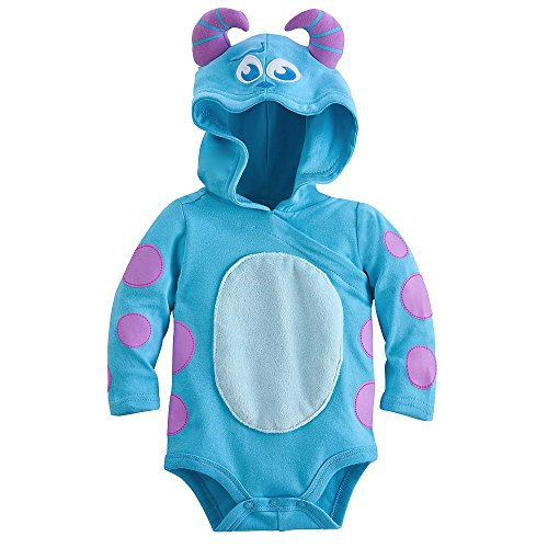 Disney Sulley Monsters Inc. Baby Halloween Costume Bodysuit Hooded Size 3-6 Months