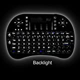 Features:92 keys, 2.4GHz wireless Keyboard with Touchpad. Touchpad DPI adjustable functions. Built-in high sensitive smart touchpad with 360-degree flip design. A new broken in classic Rii Mini i8+ new increased LED backlit function, you can us it in black with LED lighting QWERTY keyboard with multimedia control keys and PC gaming control keys. Auto sleep and auto wake mode. The Ergonomically handheld design is easy to carry and operate. Build-in removable rechargeable Li-ion battery that has longer standby time. Specification : Operating range: 15 meters(MAX), without signal disturbance and no direction limit. Frequency range: 2.403GHZ 2.480GHZOperational voltage: 3.3VCharge Voltage: 4.4V 5.25VModulation: GFSK Layout : US Channel: 78 channels TX Power: less than +5dBmTransmission rate: 1M bit/sec Frequency tolerance: +/-30ppmPower consumption: 55mA(on), 1mA(sleep)Battery Type: Built-in lithium-ion battery Notice : After 3 minutes without any operating will into sleep mode, press any key about 1s to wake up. Package Including:1 Wireless keyboard1 Wireless receiver1 Charging data cable1 User manual Note: If your device without USB 2.0 jack, you need buy one.