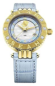 Seah Empyrean 42mm Yellow Gold-Tone Swiss Automatic Luxury Diamond watch. Zodiac sign Leo . 7/22-8/21 You are the creator of the Zodiac, Filled with courage, pride, optimism & dignity. Fire is your sign