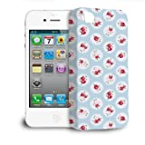 Phone Case For iPhone 4s - Shabby Chic Florals on Blue Designer Cover