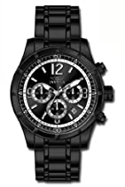 Invicta Specialty Classic Chronograph Black Dial Black PVD Mens Watch 11379