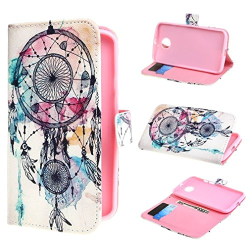 Bayke Brand / Motorola Moto X (2Nd Generation) Case , Elegant Fashion Print Style Dream Catcher Pattern Design Pu Leather Wallet Type Flip Folio Design Protective Skin Cover With Credit Card Holder Slots Case For Motorola Moto X (2Nd Generation) Moto X+1