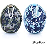 U-TIMES Grenade Pattern Small Camo EVA Keys Bag Coins Pouch Data Headphone Cable Storage Holder 2Pcs Pack 02 Forest...