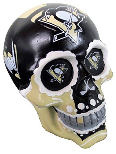 Pittsburgh Penguins NHL Resin Sugar Skull Desk Ornament