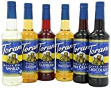 Torani Sugar Free Syrup Variety Pack, 25.4 Ounce (Pack of 6)
