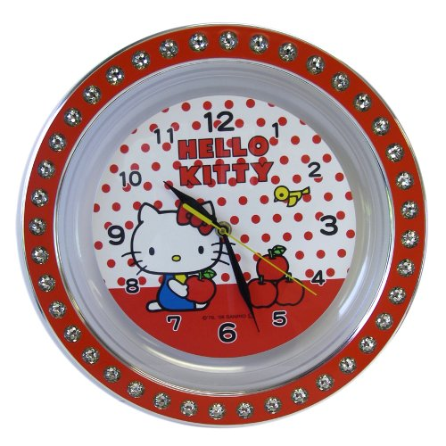 Large Hello Kitty Wall Clock – Sanrio Hello Kitty Red Wall Clock
