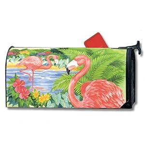 tropical pink flamingo