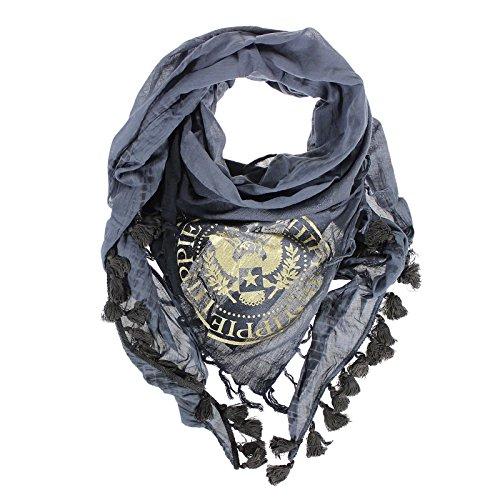 yippie-hippie-medal-tuch-gold-print-batik-look-halstuch-mustertuch-schwarz-anthrazit