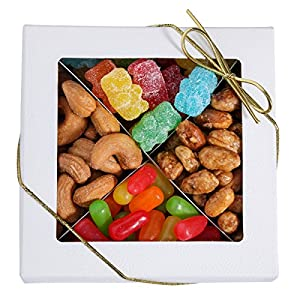 Brook Prime 4 Section Assorted Delicious Nuts And Candy Gift Box