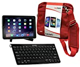Navitech Converter Pack Including Multi OS Wireless Bluetooth Keyboard / Red Case Bag & Portable Stand For The Samsung Galaxy Tab 4 10.1 / Samsung Galaxy Tab 2 10.1 / Samsung Galaxy Tab 3 10.1 / Samsung Galaxy Note 10.1 N8000 / Samsung Galaxy Note 10.1 2