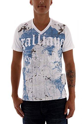 john-galliano-t-shirt-da-uomo-bianco-xs