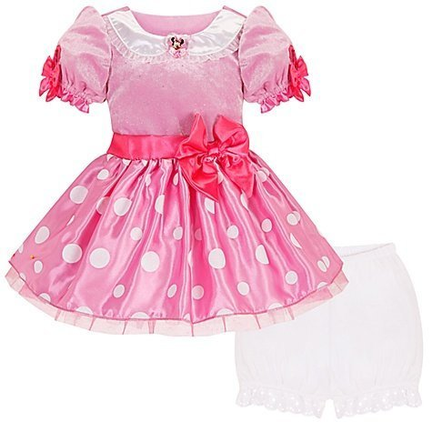 Disney Store Pink Minnie Mouse Costume Dress Size 4T for Toddler Girls