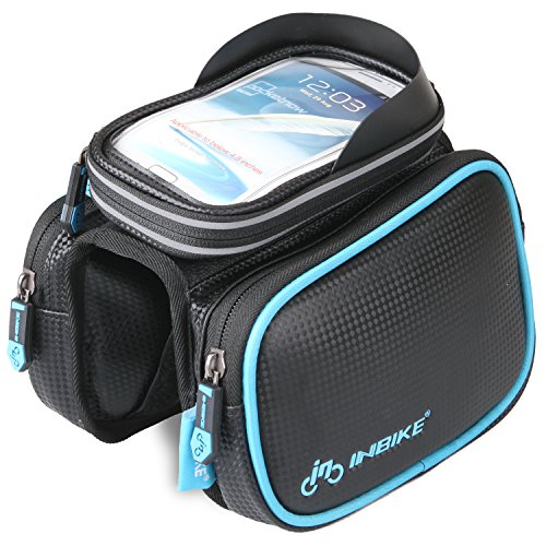 """INBIKE Mountain Road Bike Bag Touchscreen Bicycle Front Top Tube Pack Bag for Cycling 6"""""""