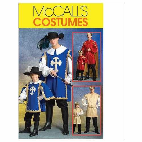 MCCALLS M5214 BOYS MUSKETEER & PRINCE COSTUMES