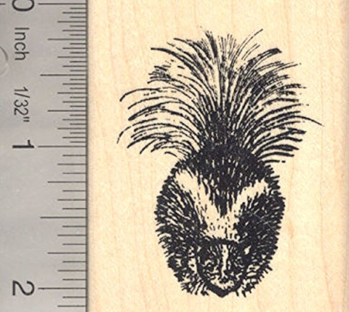 Skunk Rubber Stamp