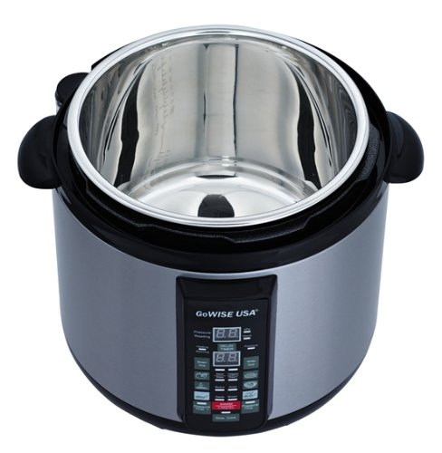 stainless steel cooking pot 6 in 1 electric pressure cooker slow cooker 8 qt. Black Bedroom Furniture Sets. Home Design Ideas