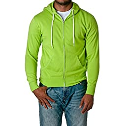 Independent Trading Co Unisex Full Zip Hooded Sweatshirt. AFX90UNZ - XXX-Large - Lime