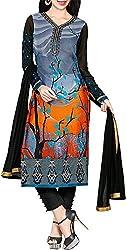 VIDA Women's Georgette Salwar Suit Material (Black)