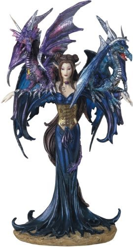 Fairy Collection Pixie With Dragon Fantasy Figurine Figure Decoration