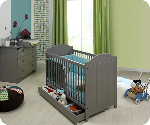 Mini Babyzimmer Charme grau mit Wickelfläche online kaufen