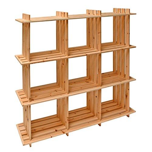 Dema Étagère en bois 9 compartiments 113 x 27 x 110 cm