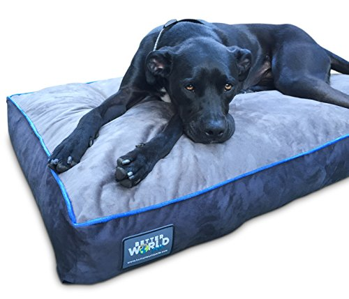 First-Quality-5-Thick-Orthopedic-Dog-Bed-Pure-Premium-Memory-Foam-Ideal-for-Aging-Dogs-Waterproof-Helps-Ease-Pain-of-Arthritis-Hip-Dysplasia-180-GSM-Removable-Washable-Cover