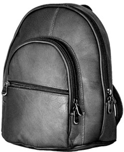 David King & Co. Double Compartment Backpack, Black, One Size