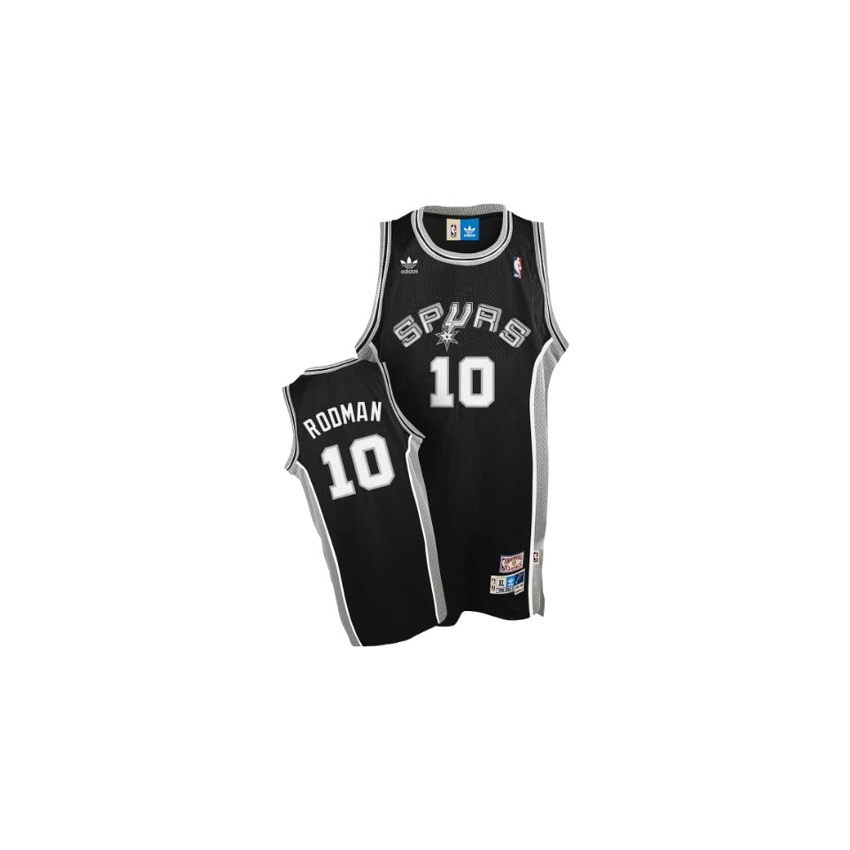 36845185772 San Antonio Spurs Dennis Rodman Adidas Team Color Throwback Replica  Premiere Jer