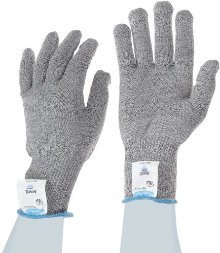 Ansell PolarBear PawGard 74-025 Dyneema Glove, Cut Resistant, Extended Tuff-Cuff, Small (Pack of 12)