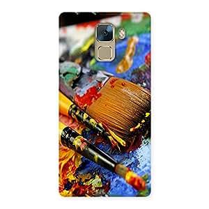 Ajay Enterprises Paint Brusg Colors Back Case Cover for Huawei Honor 7