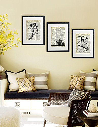 Dictionary Art Print Penny Farthing Printed On