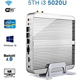 Fanless Micro PC High Peformance 5th Intel Core I3 Windows 10 Mini Desktop Computer (Barebones, 5th Intel Core...
