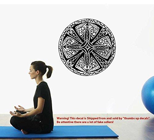 MANDALA Decals FORGIVENESS Mandala Pattern Vinyl Sticker Bedroom Lotus Flower Wall Decals Boho Indian Decor Yoga Buddha Stickers T219
