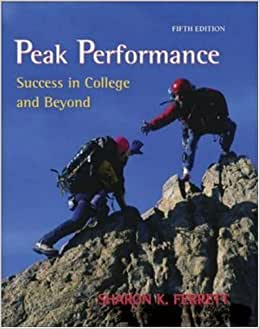Peak performance success in college and beyond