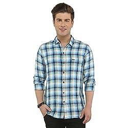 Attila Men's Casual Shirt (33062326C0_Blue Black_40)