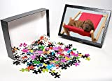 51 N63HrAYL. SL160  Photo Jigsaw Puzzle of Dog   Rhodesian Ridgeback puppy asleep on deck chair from Ardea Wildlife Pets
