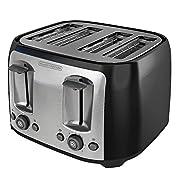 4-Slice Toaster, Black
