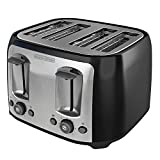 Black & Decker TR1478BD 4-Slice Toaster, Black