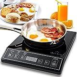 Secura 9100MC 1800W Portable Induction Cooktop Countertop Burner - Black