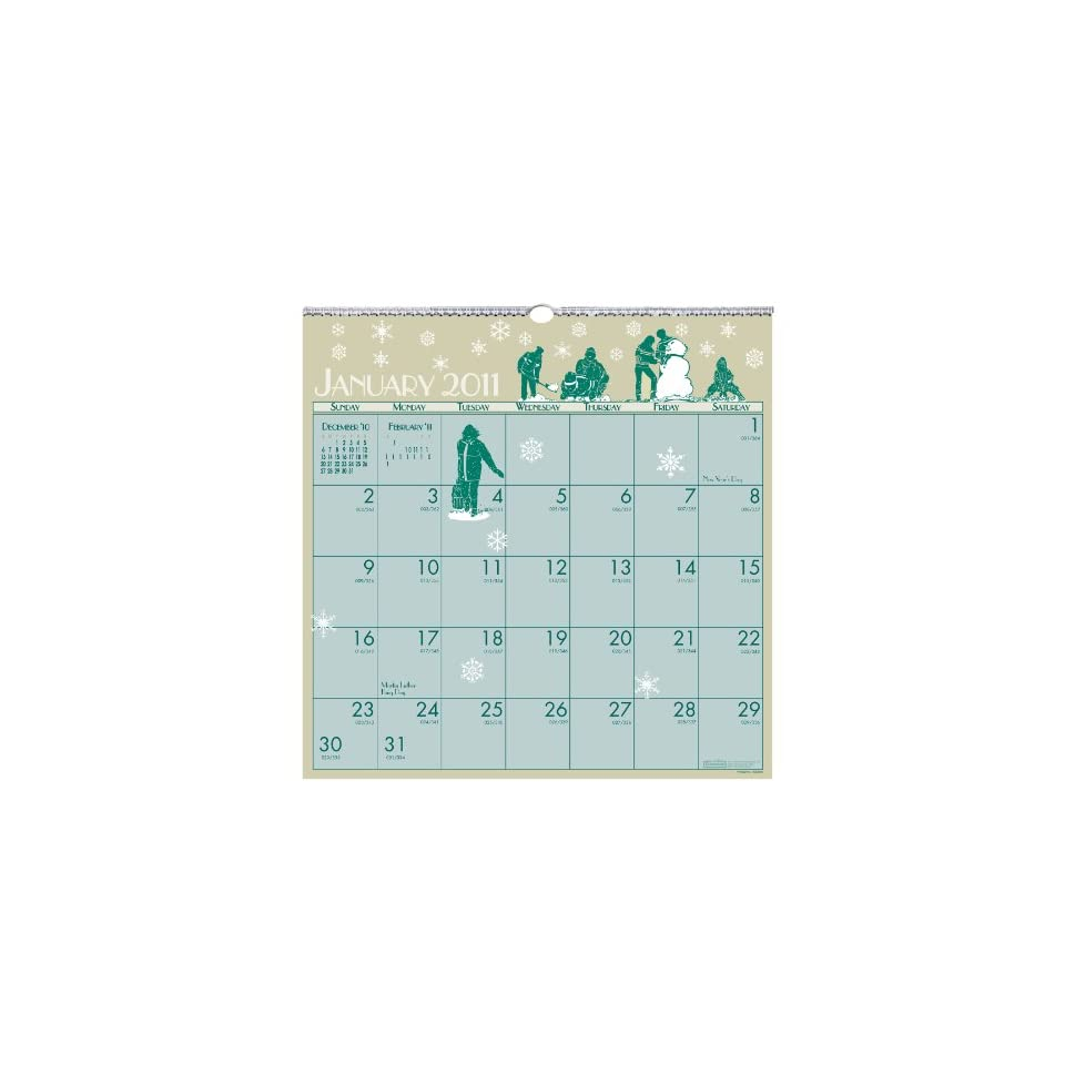 House of Doolittle 376 Illustrated Monthly Wall Calendar, 12 x 12, 2016