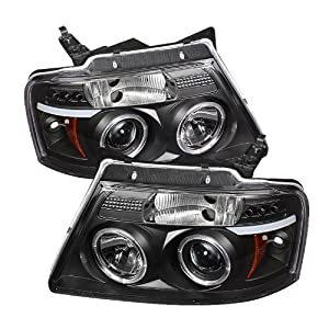 Ford F150 04 05 06 07 08 V2 Halo LED Projector Headlights - Black (Pair)